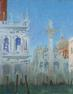 """Palazzo Ducale at Sunset"".  Oil on canvas, 31 x 41 inches"