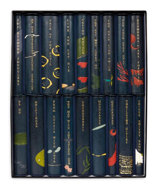Lot 130: Ian Fleming, The Centenary Edition of the Works of Ian Fleming, one of 26 lettered sets, 18 volumes, London, 2008.  Sold November 2, 2017 for $30,000.  (Pre-sale estimate $25,000 to $30,000).