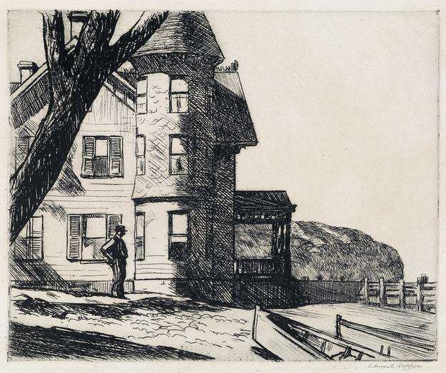 Lot 145: Edward Hopper, House by a River, etching, 1919.  Estimate $100,000 to $150,000.