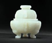 "At only 3.25"" high, this carved jade censer (Lot 291) from China dates to the 18th-19th century.  It is estimated at $25,000-30,000 and will sell on January 26, 2013 at Garth's (Delaware, Ohio)."