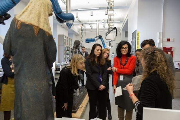 CASVA members tour the Gallery's objects conservation lab with Shelley Sturman, head of objects conservation, National Gallery of Art, October 2016