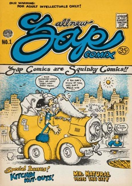 Robert Crumb (artist, author), Apex Novelties (publisher), Zap #1, 1968, 28-page paperback bound volume with half-tone and offset lithograph illustrations in black and cover in full color, National Gallery of Art, Washington, Gift of William and Abigail Gerdts