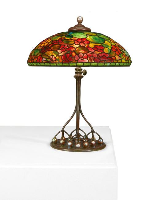 "TIFFANY ""NASTURTIUM"" TABLE LAMP, Lot 27, brought $206,250."
