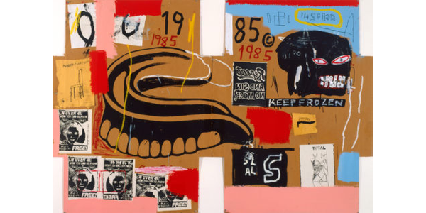 Jean-Michel Basquiat, Andy Warhol, Dentures/Keep Frozen, 1985, © The Andy Warhol Foundation for the Visual Arts, Inc.  © The Estate of Jean-Michel Basquiat