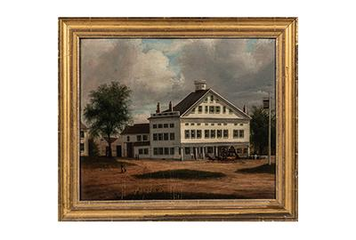 Samuel Lancaster Gerry (Massachusetts, 1813-1891) Painting of a Tavern in Ashburnham, Massachusetts (sold for: $12,500)
