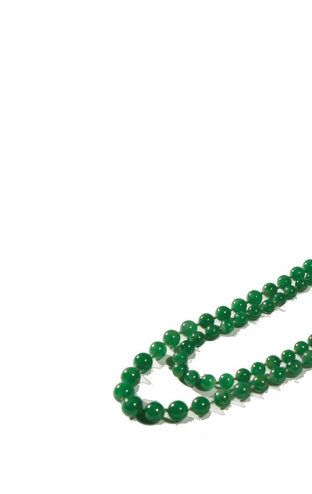 Lot 180: Jadeite Necklace, sold for $120,000