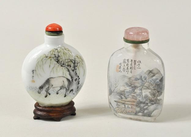 Two Chinese Painted Snuff Bottles