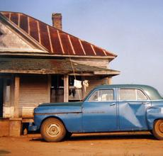 House & Car, Near Akron, Alabama, 1978