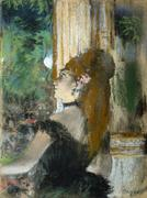 Edgar Degas (French, 1834 – 1917), The Singer (La Chanteuse), c.  1877 – 1878, pastel over monotype on paper, Gift, Miss Martha Elizabeth Dick Estate, 1976.46.1