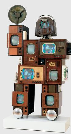 Nam June Paik, Powel Crosley, Jr., mixed media (parts from a variety of Crosley products), John J.  Emery Endowment and The Edwin and Virginia Irwin Memorial, 1992.140