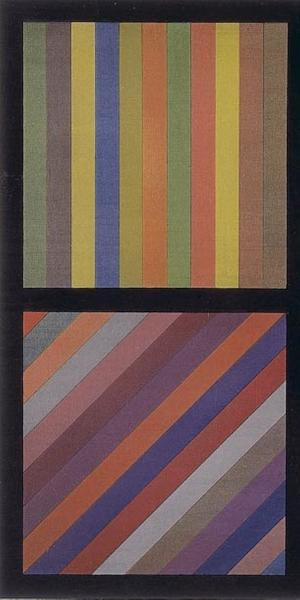 Sol LeWitt, American, 1928 - 2007.  Bands of Lines in Four Directions, Square, 1993.  Woodcut.  Gift of Janet and Joe Westheimer 1994.197