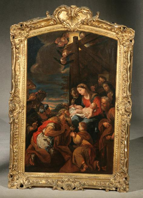 Consigned by St.  John's Episcopal Church, a 19th Century Italian School of The Adoration of the Magi, which holds a pre-sale estimate of $5,000-$10,000.