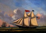 Schooner AURELIA P.  HOWE by Joseph B.  Smith, circa 1850s.  Courtesy of Vallejo Gallery.