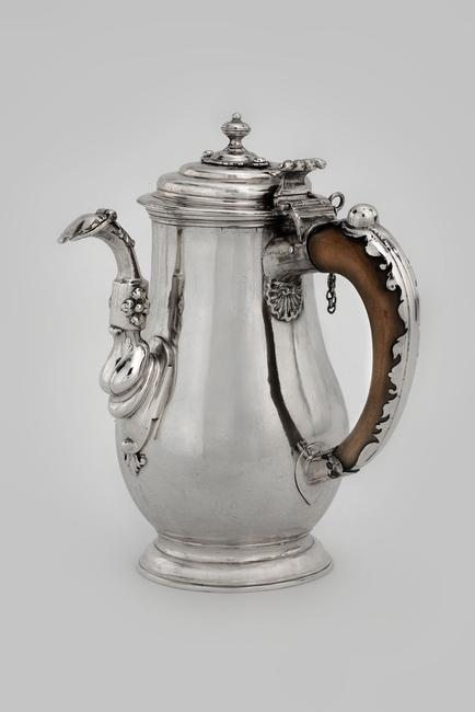 Chocolate Pot Marked by William Lukin (active ca.  1699-1755) London, England, 1701-1702 Silver, wood The Art Museums of Colonial Williamsburg, Gift of John A.  Hyman: The John A.  Hyman Collection, 2003-6