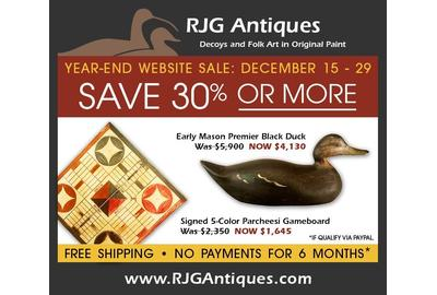 RJG Antiques / Russ and Karen Goldberger Launch Year-End Website Sale With Free Shipping and No Payments for 6 Months