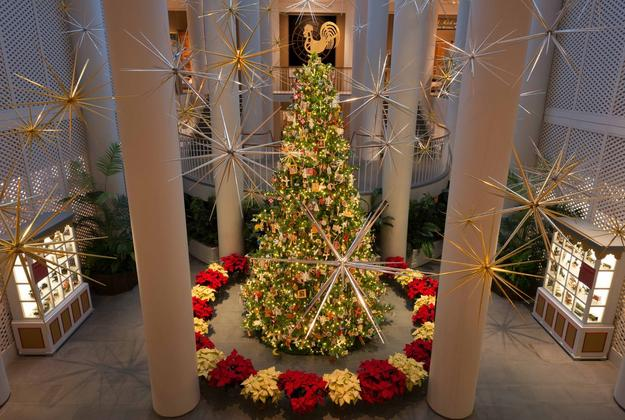 Abby Aldrich Rockefeller Folk Art Museum's annual Christmas tree, 2016