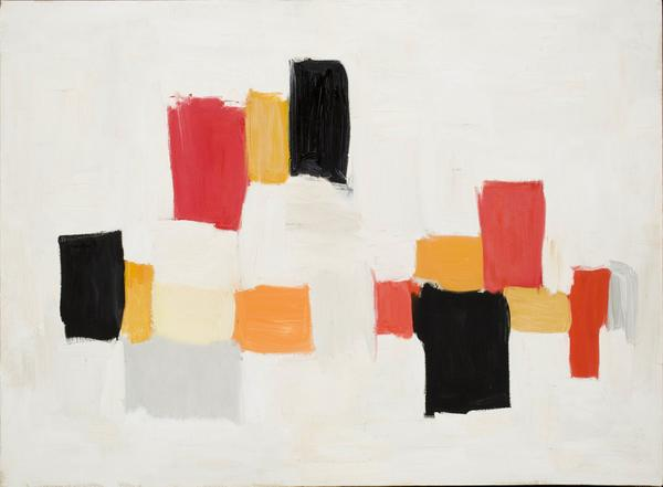 Olga Albizu (Ponce, Puerto Rico, 1924 – 2005, New York, New York) Untitled, 1959 Oil on canvas, 22 x 30 in.  (55.9 cm x 76.2 cm) Museum purchase, The Dorothy Johnston Towne (Class of 1923) Fund, 2018.165 Artwork Credit: Courtesy of the artist's estate