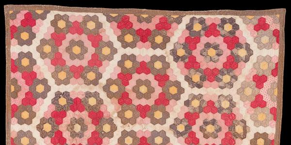 Pieced Honeycomb Quilt Sarah Winifred Cobb (1842-1917) and Rachel, Richmond Kentucky, ca.  1850, Plain and printed cottons Gift of Katherine Phelps Burnam Flood, 2019.609.2