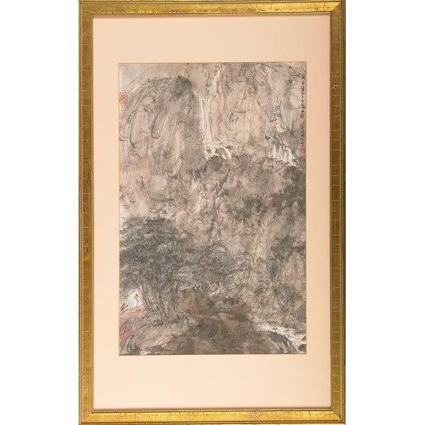 Lot 2359, Fu Baoshi, Untitled, Ink and color on paper, Sold for $156,250