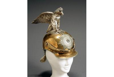 A late 19th-early 20th century Prussian Garde de Corps pickelhaube with parade eagle holds a $5,000-$10,000 estimate.