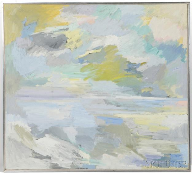 Hyde Solomon (American, 1911-1982) Painting, Inland Sea (Lot 235, Estimate $3,000-$5,000)