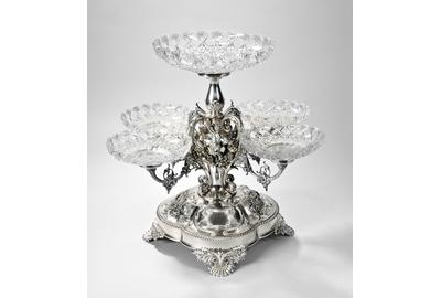 Gorham Sterling Silver Four-arm Epergne, Providence, c.  1890 (Lot 92, Estimate: $8,000-12,000)