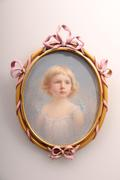 Portrait Miniature of a Young Girl c 1900 artist, Percy