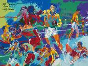 Rumble in the Jungle by LeRoy Neiman captures the intensity of the famed 1974 boxing match in Zaire.