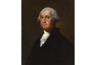 Portrait of George Washington attributed to Gilbert Stuart.  Circa 1815