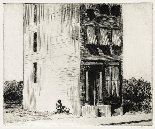 Lot 304: Edward Hopper, The Lonely House, etching, 1923.  Sold November 2, 2017 for $317,000.  (Pre-sale estimate $150,000 to $200,000).