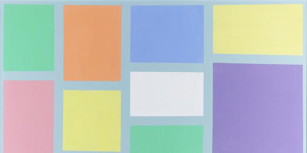 Pastel Squares by Frank Sinatra.  Dated 1987.