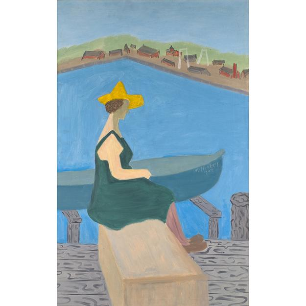 "Lot 31: Milton Avery ""Girl by Lake"" $300,000 - 500,000"