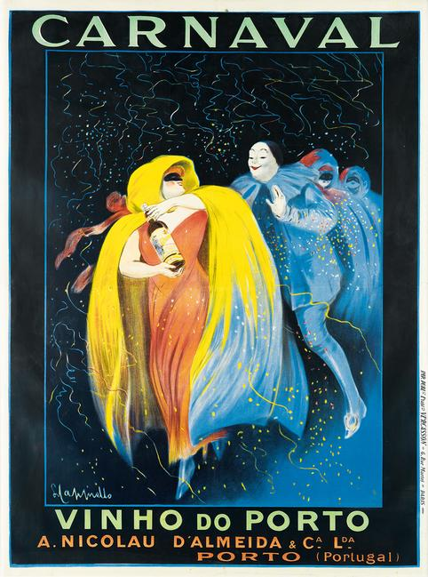 Lot 365: Leonetto Cappiello, Carnaval / Vinho do Porto, 1911.  Estimate $20,000 to $30,000.
