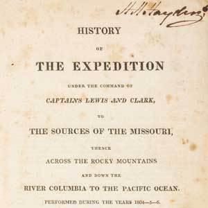 "The first edition of Lewis and Clark's ""History of the Expedition"" to be auction August 5 at Leslie Hindman Auctioneers"