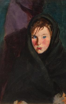 Robert Henri's portrait entitled Eileen.  Executed in 1924 with a presale estimate of $200,000-300,000.  It will be sold at Leslie Hindman Auctioneers September 25 during the American and European Art auction.