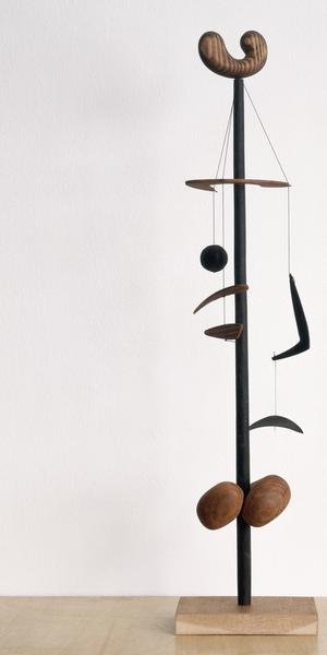 Isamu Noguchi.  Untitled, 1943.  Wood, string.  23 1/4 x 5 3/8 x 3 1/2 inches (59.1 x 13.7 x 8.9 cm).  ©The Isamu Noguchi Foundation and Garden Museum, New York/ARS.  Photograph by Kevin Noble.