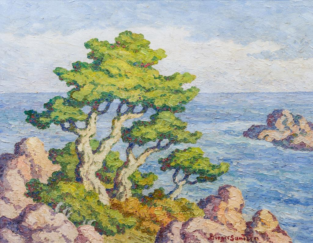 Birger Sandzen, Pacific Coastline, 1950, 22 1/2 x 28 inches, to be sold May 25 at Leslie Hindman Auctioneers