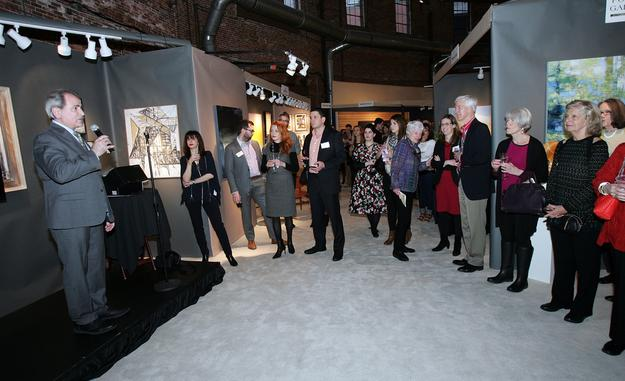 Tony Fusco, Co-Producer of Boston Design Week welcomes guests to the AD20/21 Show Gala Preview on Thursday April 6