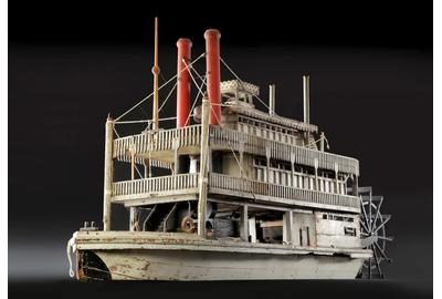 RARE STERN WHEEL STEAMBOAT MODEL BY A.  C.  PAYNE