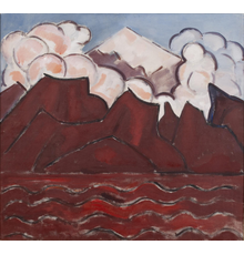 LOT 109 - selling JANUARY 9, 2021.  UNTITLED (POPOCATÉPETL, MEXICO) by Marsden Hartley.  circa 1932-33 Oil on canvas, 28 x 30 inches.