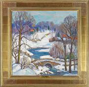 Lot 28, Fern Isabel Kuns Coppedge (American, 1883-1951), Near New Hope, $50,000-70,000