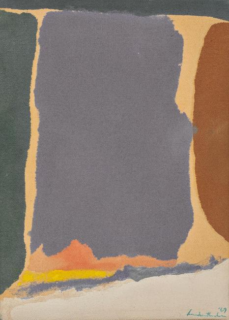 Lot 9.  Helen Frankenthaler, Untitled, 1969, acrylic, 11 x 8 in., $50,000-80,000
