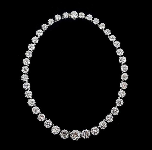 Van Cleef & Arpels Diamond Riviere Necklace from the Estate of Helene Rabb Cahners-Kaplan, $75,000-100,000
