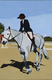 "Richard Baker, Rider with Visor, oil on canvas, 28.5"" x 36.5"""