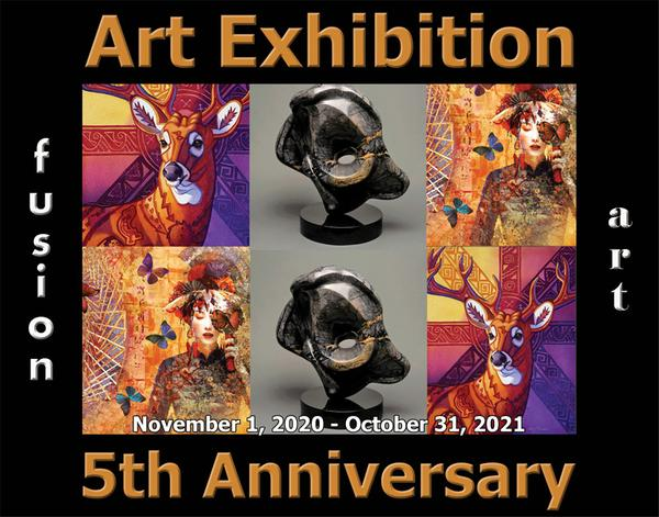 5th Anniversary Online Art Exhibition www.fusionartps.com