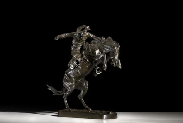 Frederic Remington's Broncho Buster, cast 37, is estimated to bring $200/300,000 in Cowan's March 25, 2011 American Indian & Western Art Auction