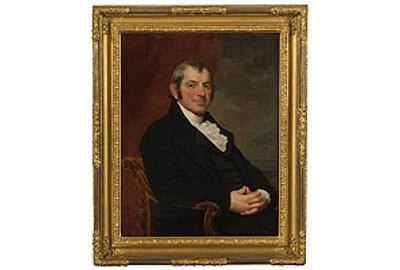 19th Century Portrait Attributed to Gilbert Stuart