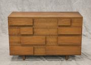 "Gio Ponti design for Singer, mid-century modern 4-drawer chest of drawers, 30 1/2"" h x 47"" w x 19"" d"