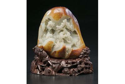 Chinese Jade Boulder - realized $15,600