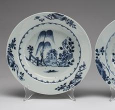 These three gorgeous blue and white porcelain plates from the Nanking Cargo will be sold by Great Gatsby's Auction Gallery, Feb.  10-12 in Atlanta, Ga.